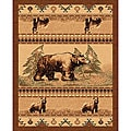 The Lodge Bears Southwestern Rug (8' x 11')