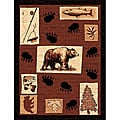 The Lodge Bear Paw Southwestern Rug (4' x 6')
