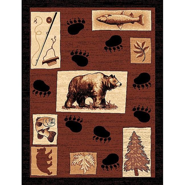 The Lodge Bear Paw Southwestern Rug (8' x 11')