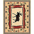 The Lodge Moose Prints Southwestern Rug (8' x 11')