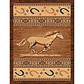 The Lodge Horse Southwestern Rug (5' x 8')