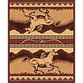 The Lodge Horses Southwestern Rug (4' x 6')