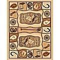 Lodge Horseshoe Southwestern Rug (5' x 8')