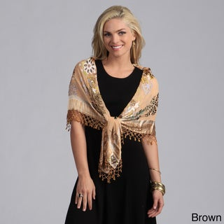 Embroidered Silk Beaded Shawl