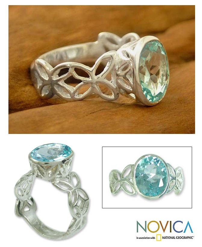 'Daydream' Blue Topaz Solitaire Ring (India)