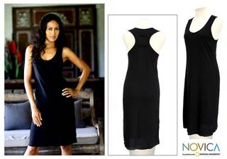 Cotton 'Classic Black' Sundress (Indonesia)