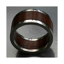 Sterling Silver and Wood 'Forest Halo' Men's Ring (Brazil)