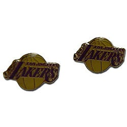 Los Angeles Lakers Post Stud Logo Earring Set