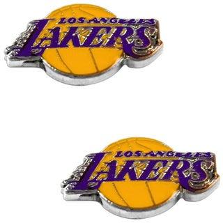 Los Angeles Lakers Post Stud Logo Earring Set