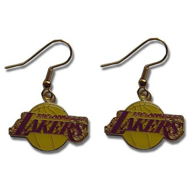 Los Angeles Lakers Dangle Logo Earring Set