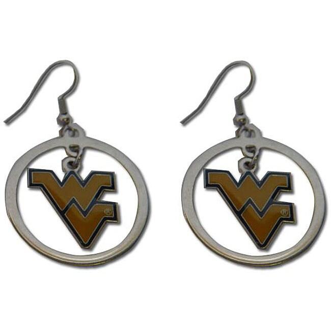 West Virginia Mountaineers Hoop Logo Earring Set