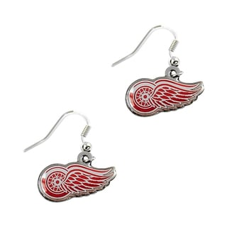 Detroit Red Wings NHL Dangle Logo Earrings