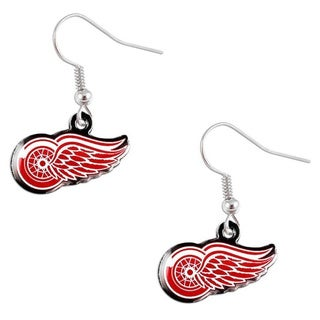Detroit Red Wings NHL Dangle Logo Earrings