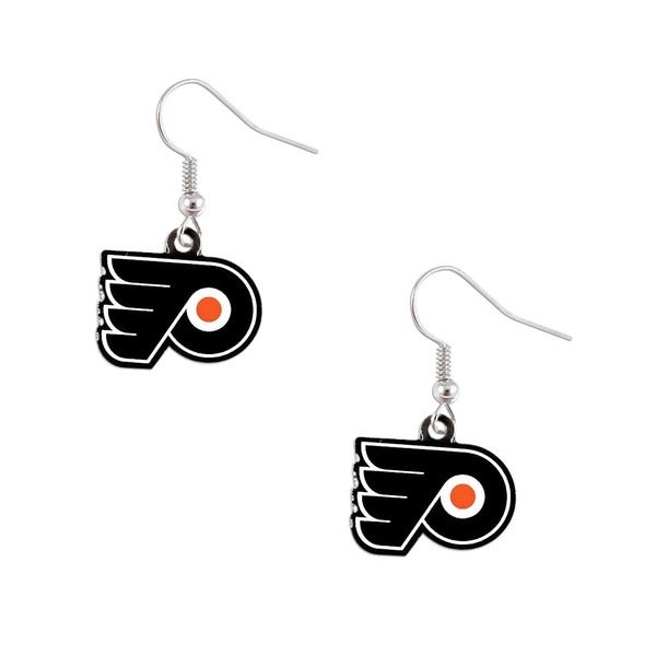 Philadelphia Flyers NHL Dangle Logo Earrings