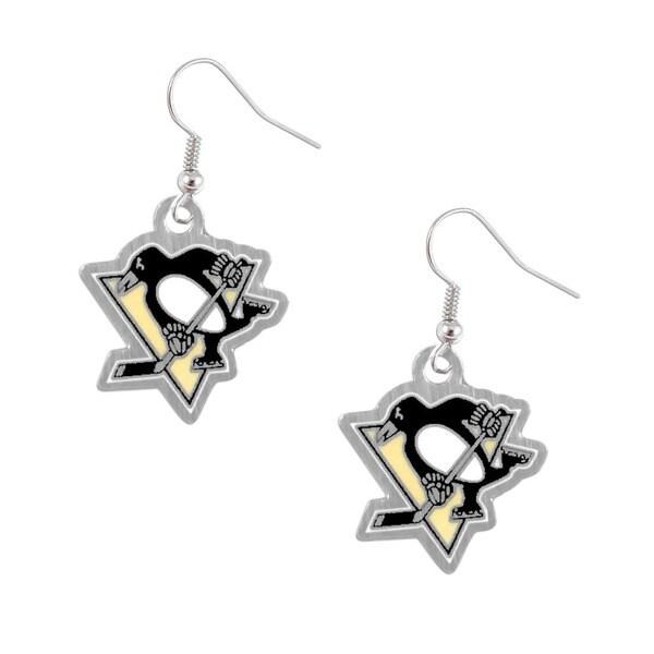 Pittsburgh Penguins NHL Charm Dangle Logo Earring Set