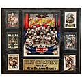 Super Bowl XLIV Champion New Orleans Saints 13x20 Six Card Plaque