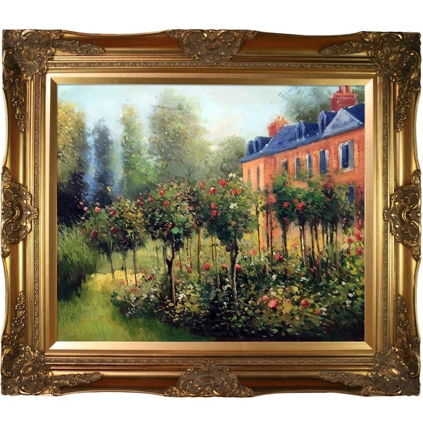 Renoir 'Garden at Fontenay, 1874' Canvas Art