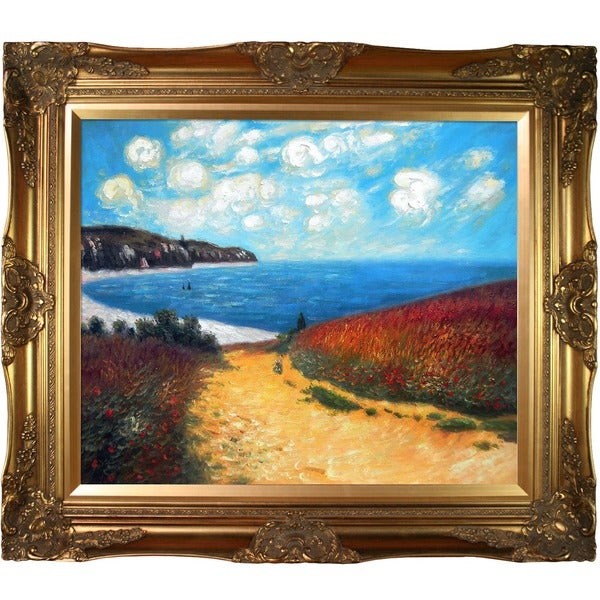 Monet 'Meadow Road to Pourville, 1882' Canvas Art