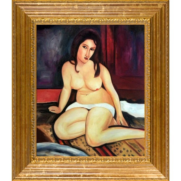 Modigliani 'Seated Nude, 1917' Canvas Art 6659414