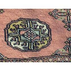 Pakistani Hand-knotted Bokhara Peach/ Ivory Wool Rug (3' x 5')