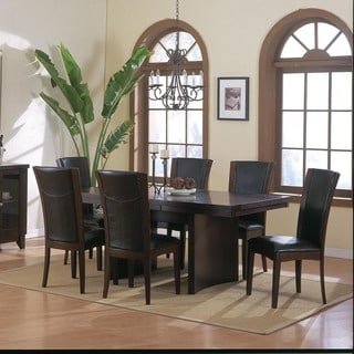 Portman Brown 7-piece Dining Table Set