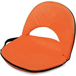 Picnic Time Oniva Portable Orange Recreation Recliner Seat