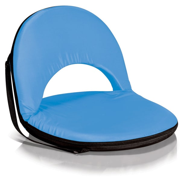 Picnic Time Oniva Portable Sky Blue Recreation Recliner Seat