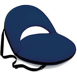 Picnic Time Oniva Portable Navy Recreation Recliner Seat