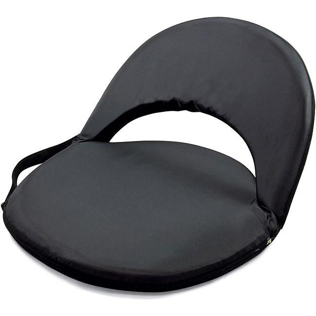 Picnic Time Oniva Portable Black Recreation Recliner Seat