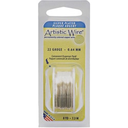 Natural 22-gauge Non-tarnish Silver Wire (8 Yards)