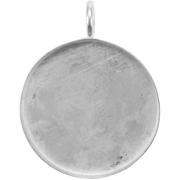 Base Elements Silver Overlay 39.3-mm Circle Pendant Base