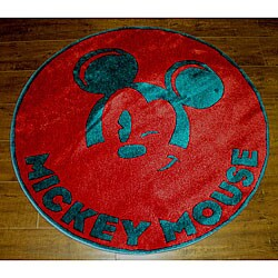 Mickey Mouse Winking Rug (3'3 Round)