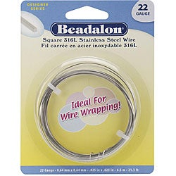 Stainless Steel 22-gauge 6.5 Meters Square Wrapping Wire