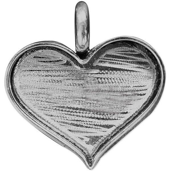 Designer's Silver Overlay Mini-heart Base (Pack of 1)
