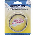 Beadalon Stainless Steel Half Round 21-gauge Wrapping Wire