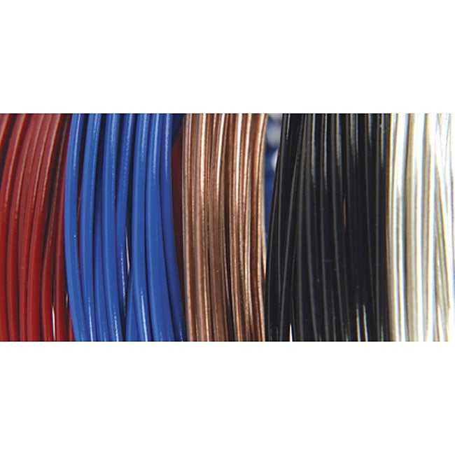 Plastic Coated 9 Foot Coils 22 Gauge Fun Wire (Pack of 5)