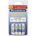 Beadalon Silverplated #1/2/3/4 Crimp Tube 600-piece Variety Pack