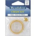 Beadalon Goldplated 6.5-foot Snake Chain Kit