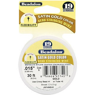 Beadalon Designer Series Satin Gold 19-Strand Stringing Wire