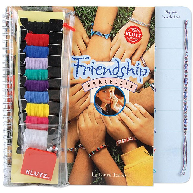 Klutz Friendship Bracelets Spiral-bound Book and Embroidery Craft Kit