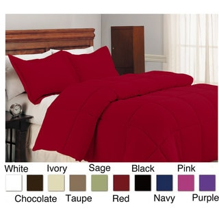Microfiber Down Alternative Polyester Fill 3-piece Comforter and Sham Set