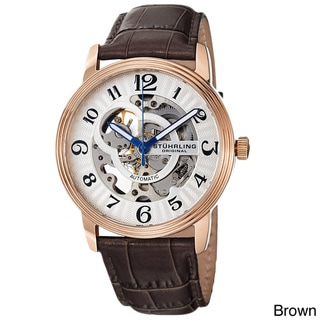 Stuhrling Original Men's 'Othello' Skeleton Automatic Watch