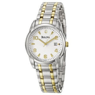 Bulova Men's Bracelet Two-tone Stainless Steel Watch