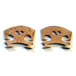 105 Music Violin Replacement Maple Wood Bridges (Set of 2)
