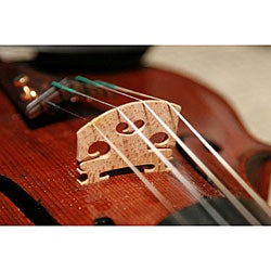 105 Music Violin Replacement Maple Wood Bridges (Set of 2)