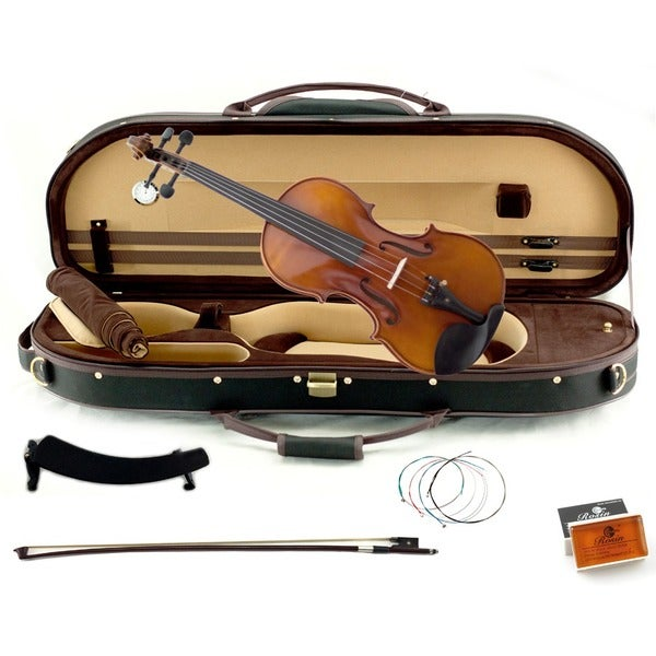 Artist 500 Series 4/4 Full Size Concert Violin with Black Case and Accessory Package 11678664