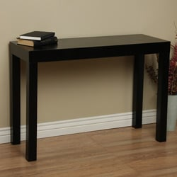 Lachlan Glossy Black Sofa Table