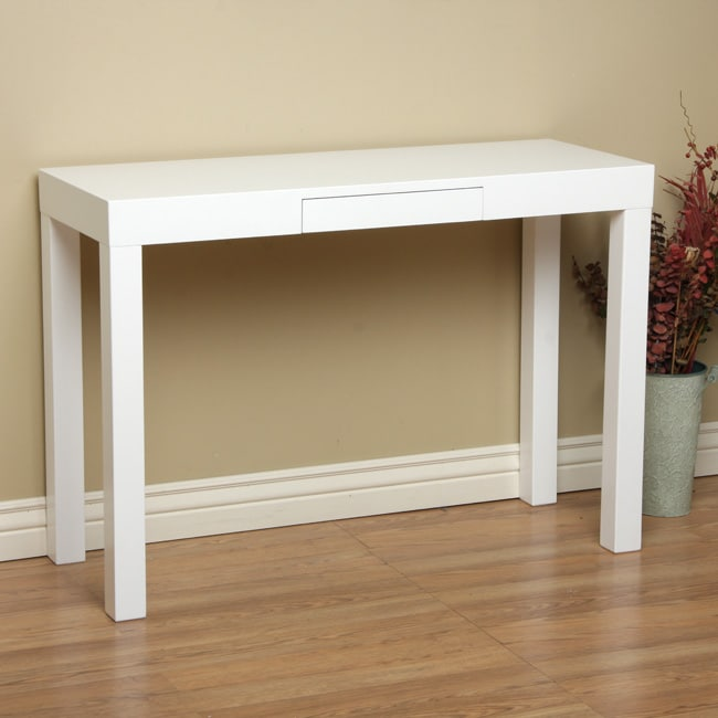 Lachlan Glossy White Sofa Table at Sears.com