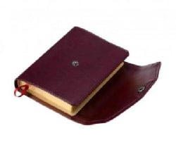 Holy Bible: King James Version, Burgundy, Imitation Leather With Button Snap Fastener, Pocket Reference Edition (Paperback)