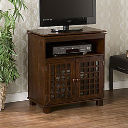 Upton Home Narita Espresso Swivel Top Media Stand
